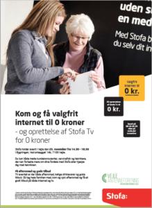 Stofa arrangement i Vejle Antenneforening